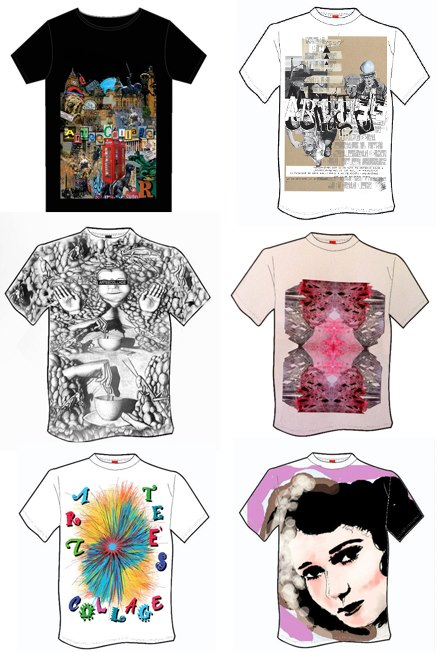 Arteecollage design a tee comp