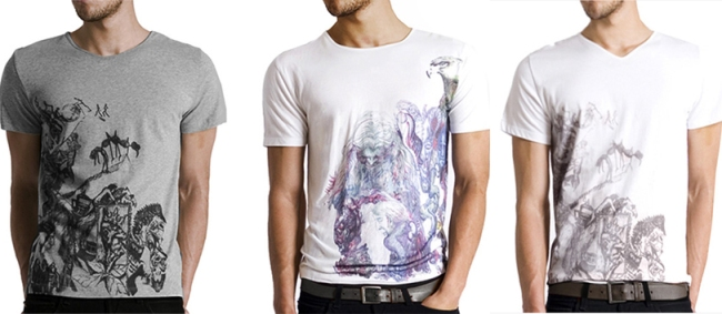 arteecollage men's graphic t-shirts